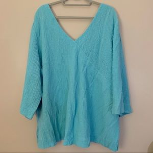 Soft Surrounds Plus Size 3/4 Sleeve Top